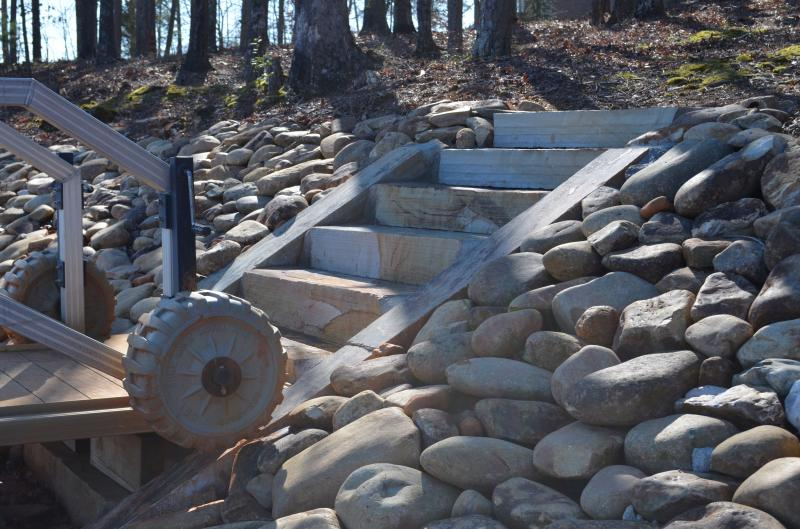 TN River Rock Stone Shoreline Steps with Ramps!